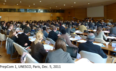 PrepCom 1, UNESCO, Paris, Dec. 5, 2011