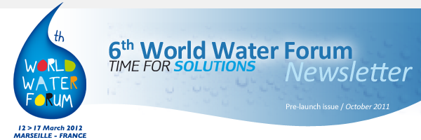 6th World Water Forum Newsletter - Pre-launch issue