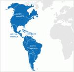 Processus régional Amériques - aperçu géographique