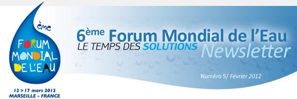 6ème Forum Mondial de l'Eau - Newsletter - N°4